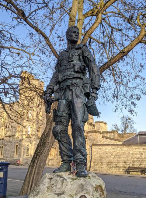 Fallen Irish Guardsmen bronze Statue, Windsor, Berkshire, England