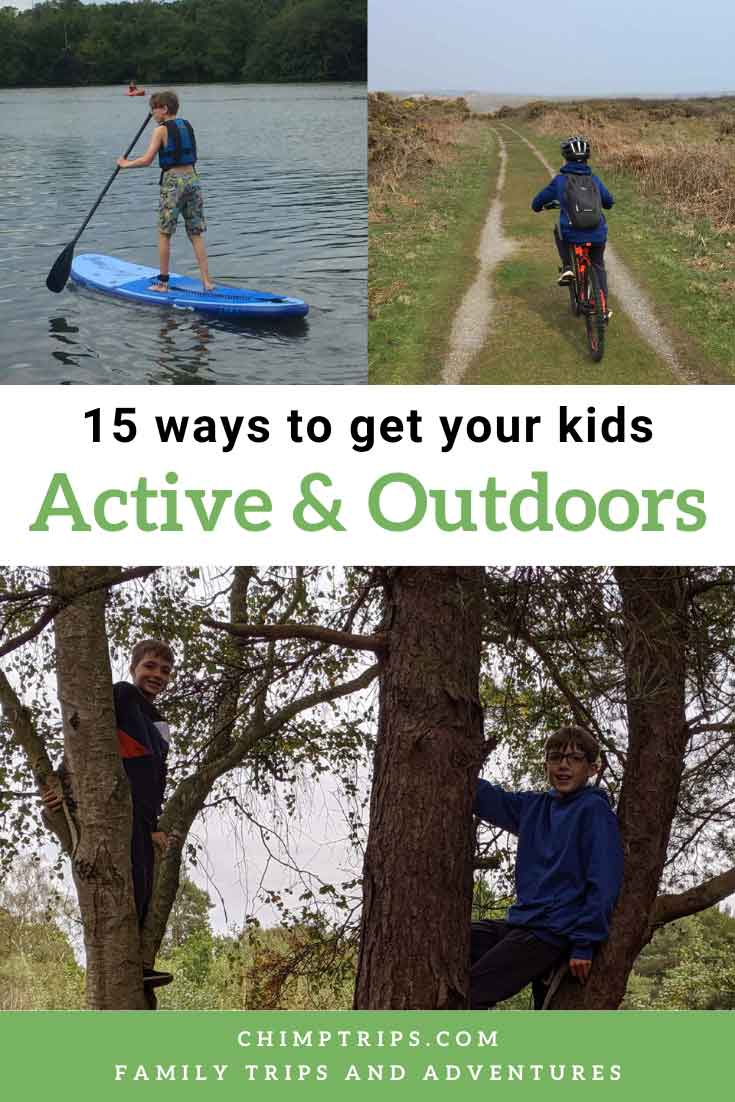 Pinterest - 15 ways to get your kids active and outdoors