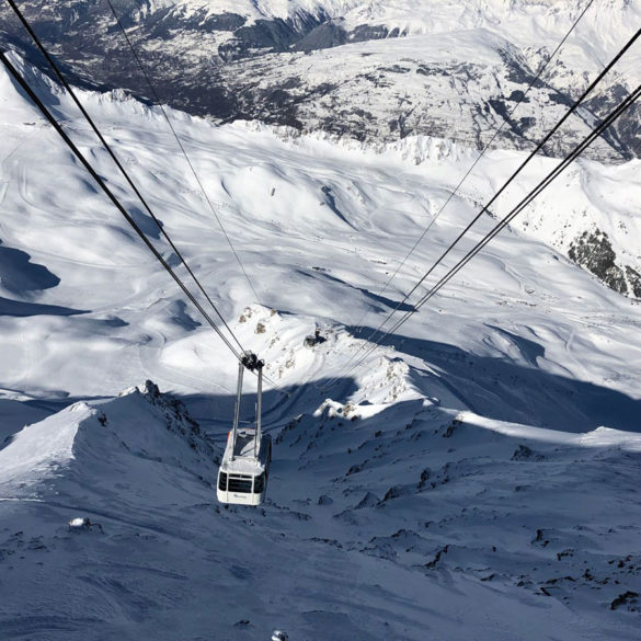 One of the Arc 1800 ski lifts in France