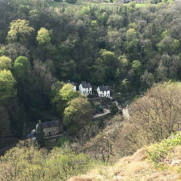 View from High Tor, Matlock Bath in Derbyshire