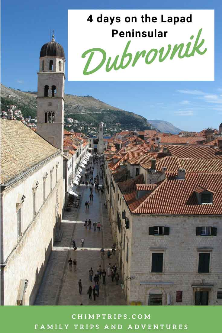 View of Dubrovnik Old Town from ancient walls