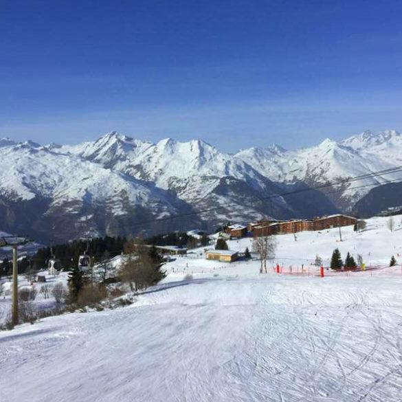 Pistes at Arc 1800 Ski Resort in France