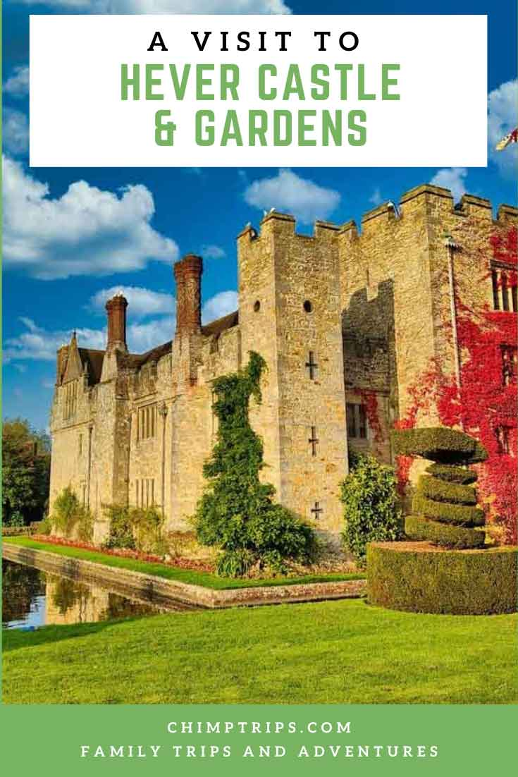 Pinterest cover for A visit to Hever Castle & Gardens