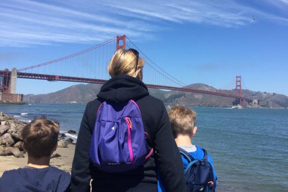 Admiring the Golden Gate Bridge, San Francisco