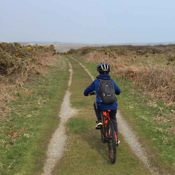 Bike Ride St Govan's Head, Pembrokeshire, Wales