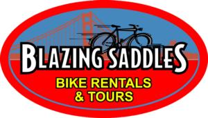 Logo for Blazing Saddles bike rental shop in San Francisco, California