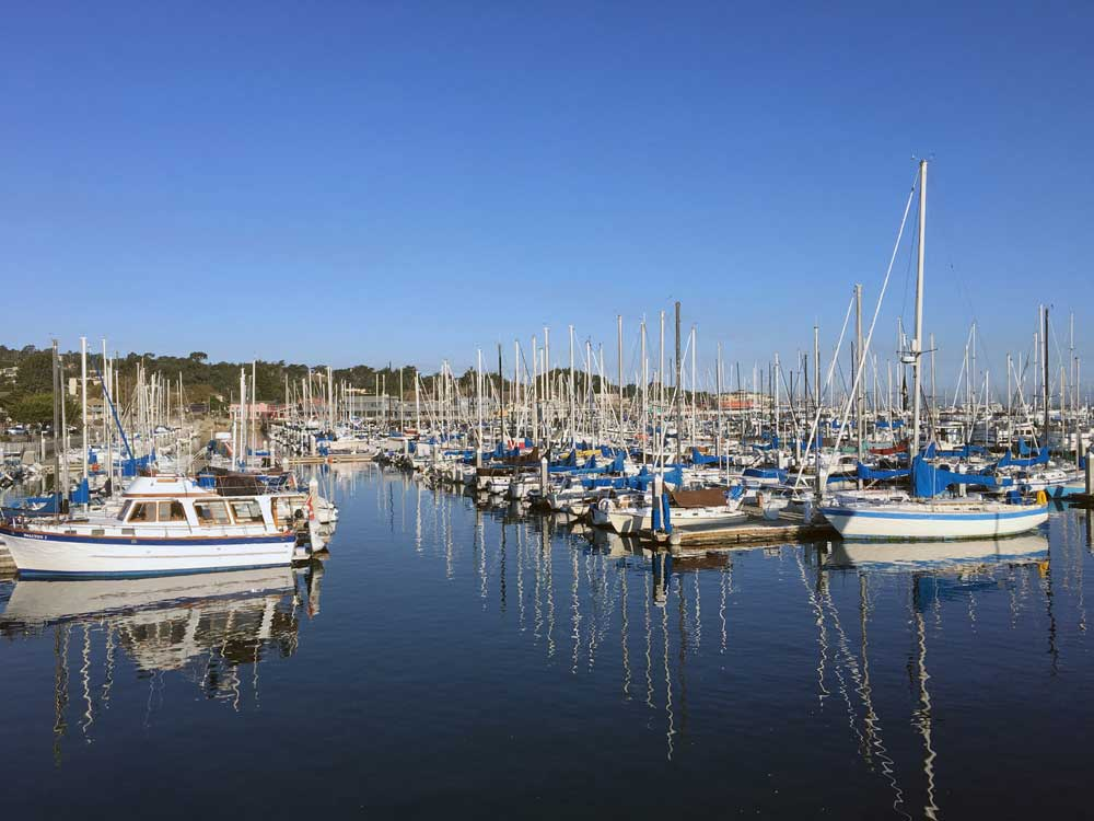 Boats at dock in Monterey bay