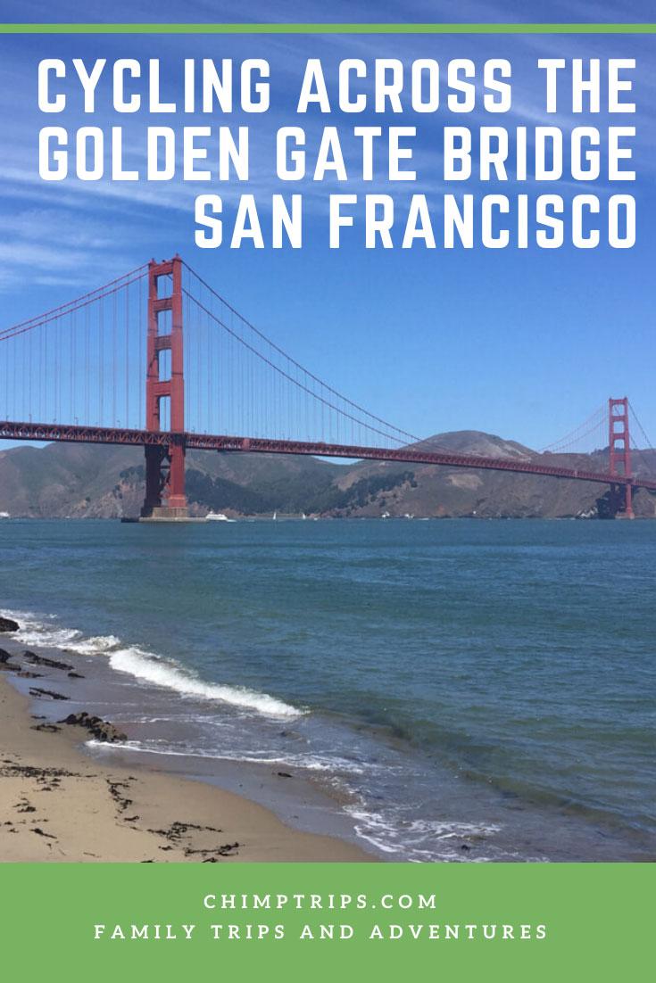 CHIMPTRIPS - Cycling across the Golden Gate bridge San Francisco