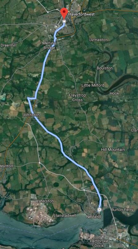 Neyland to Haverfordwest, Cycle Route Pembrokeshire, Wales