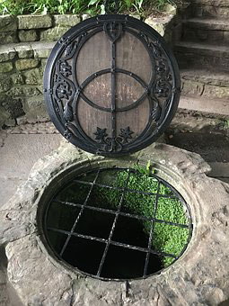 Opening of the Chalice Well, Glastonbury in Somerset