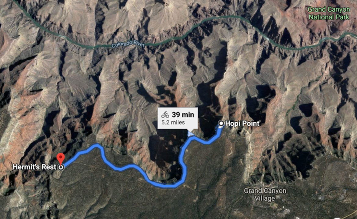 Grand Canyon Cycle route