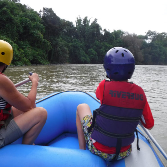 White water rafting Fun, River Kiulu, Borneo