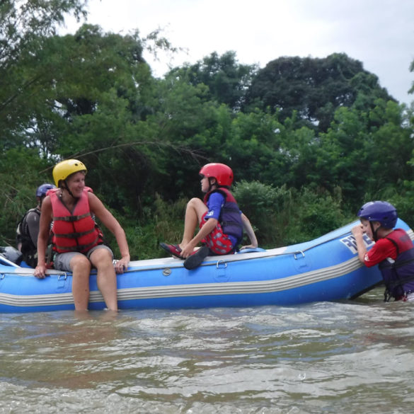 White water rafting on the River Kiulu, Borneo