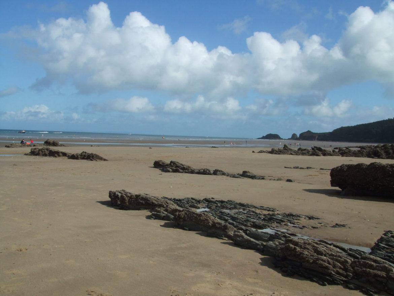 Saundersfoot Beach, Pembrokeshire, Wales