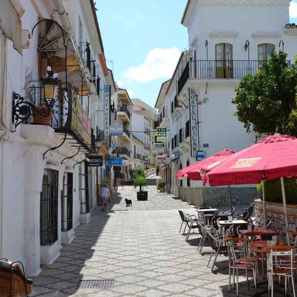 Cafe on Estepona street, Spain