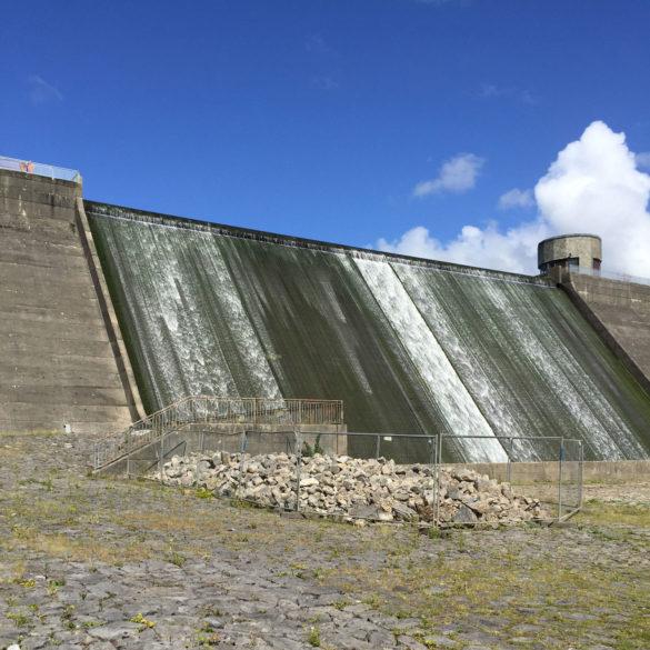 Dam at Llys y Fran Country Park, Pembrokeshire, Wales
