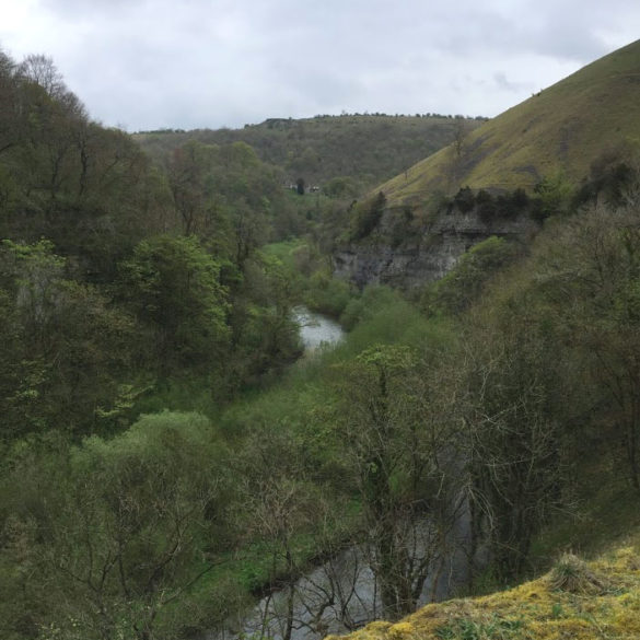 View of Wye Valley from Monsal Trail, Derbyshire