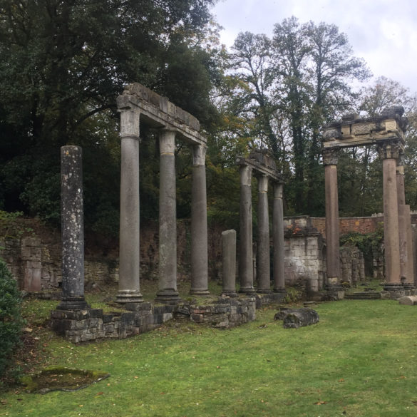 The Roman Ruins, Virginia Water Lake, Egham, Surrey, UK