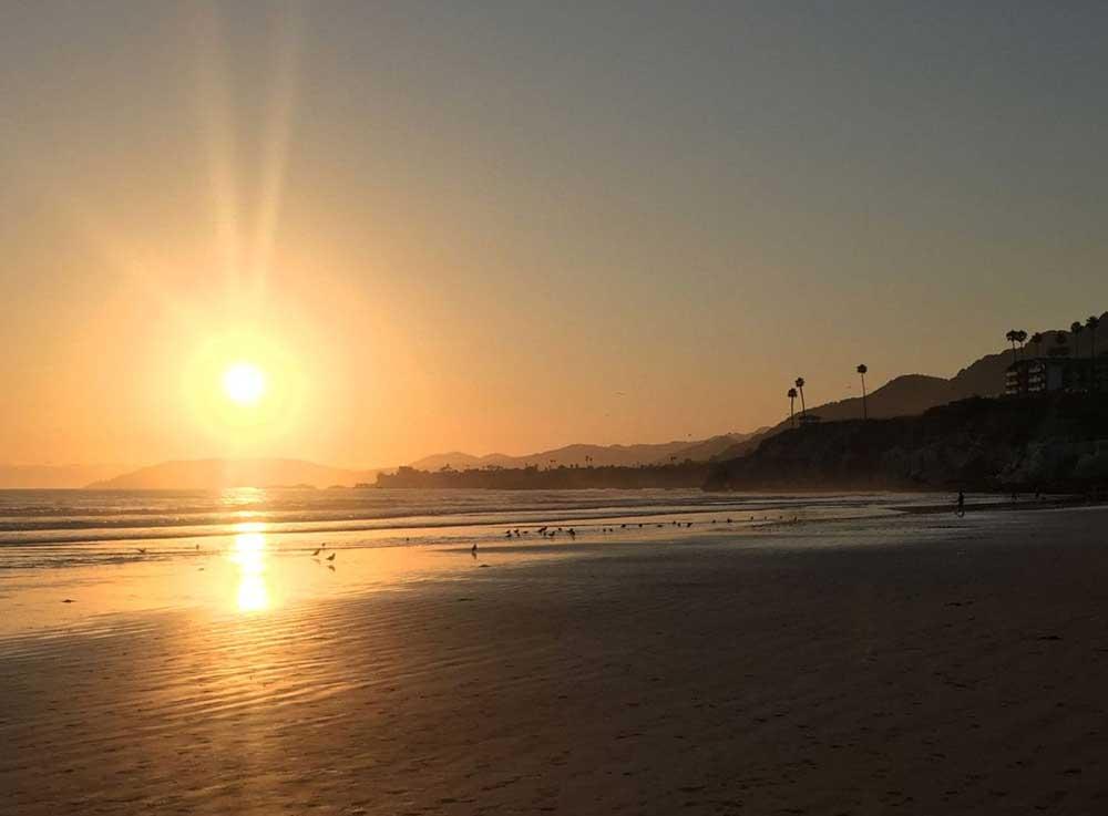 sunset at Pismo Beach, California