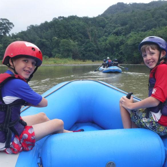 white water rafting adventure on Kiulu River