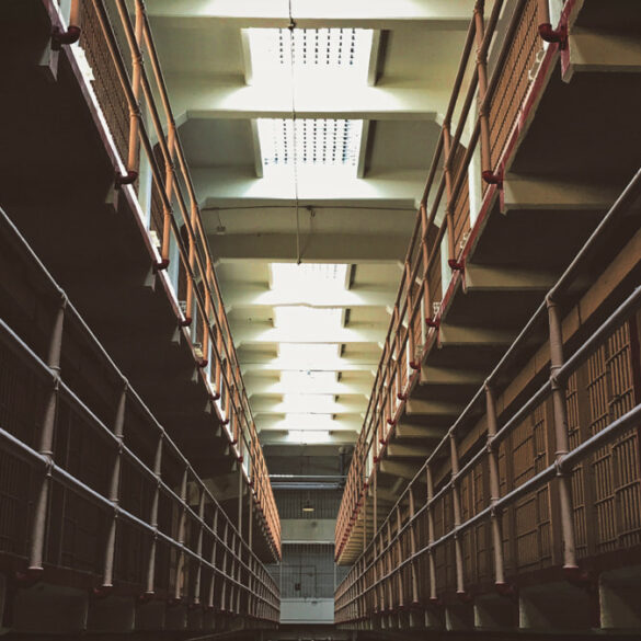 Cells at Alcatraz Prison, San Francisco in California