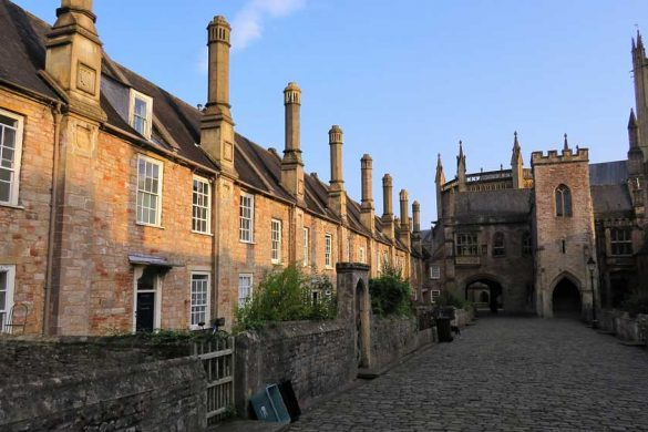 almshouses with Wells Cathedral