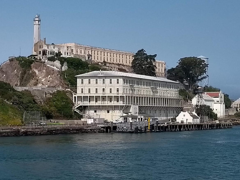 Arriving by boat at Alcatraz Island, San Francisco, California