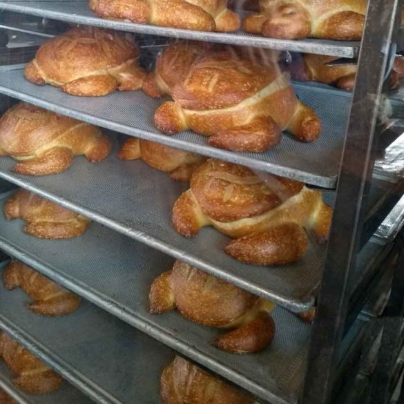 Fresh turtle bread at Boudin Bakery in San Francisco, California