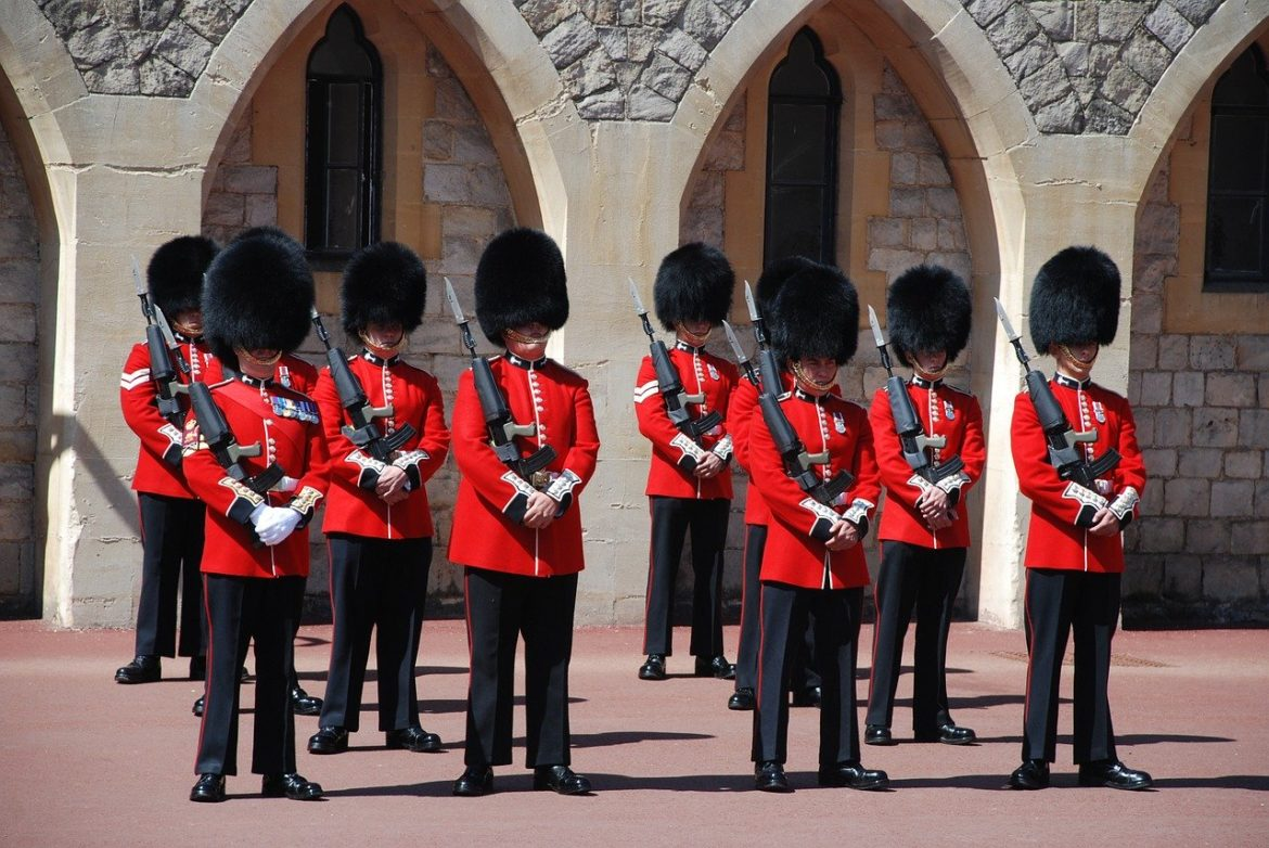 The changing of the guards, Windsor Castle, UK
