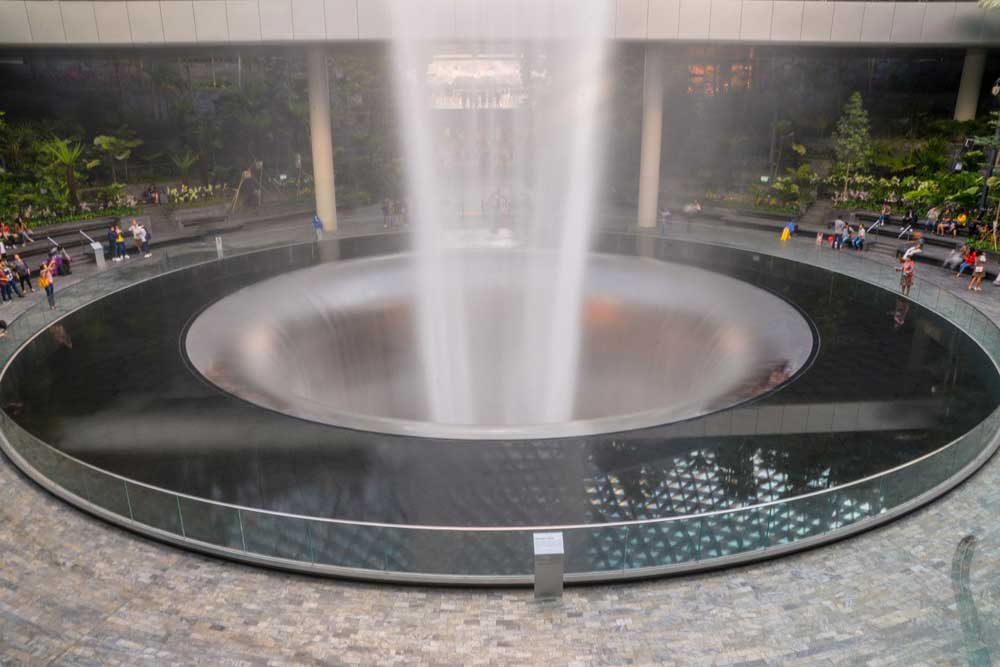Base of the Rain Vortex, The Jewel, Changi Airport, Singapore,