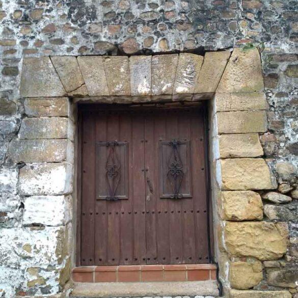 Castillo De San Luis, Estepona, wooden door, Spain