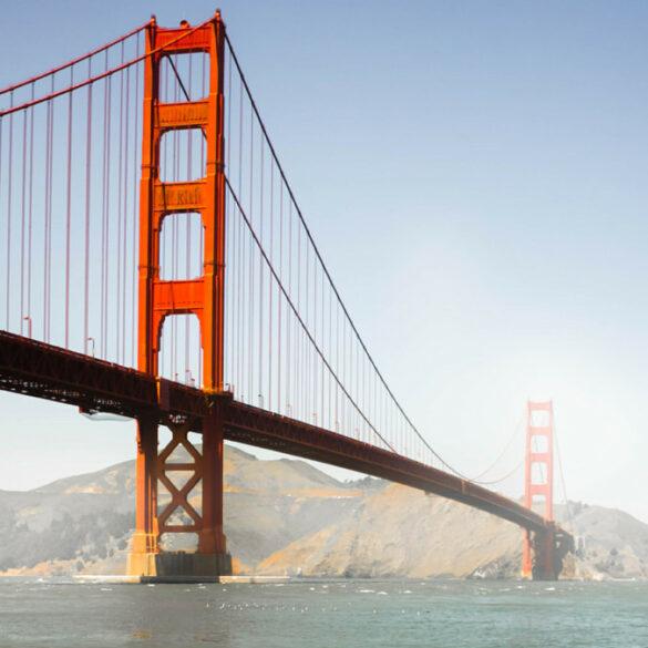 a view of the Golden Gate Bridge, San Francisco in California