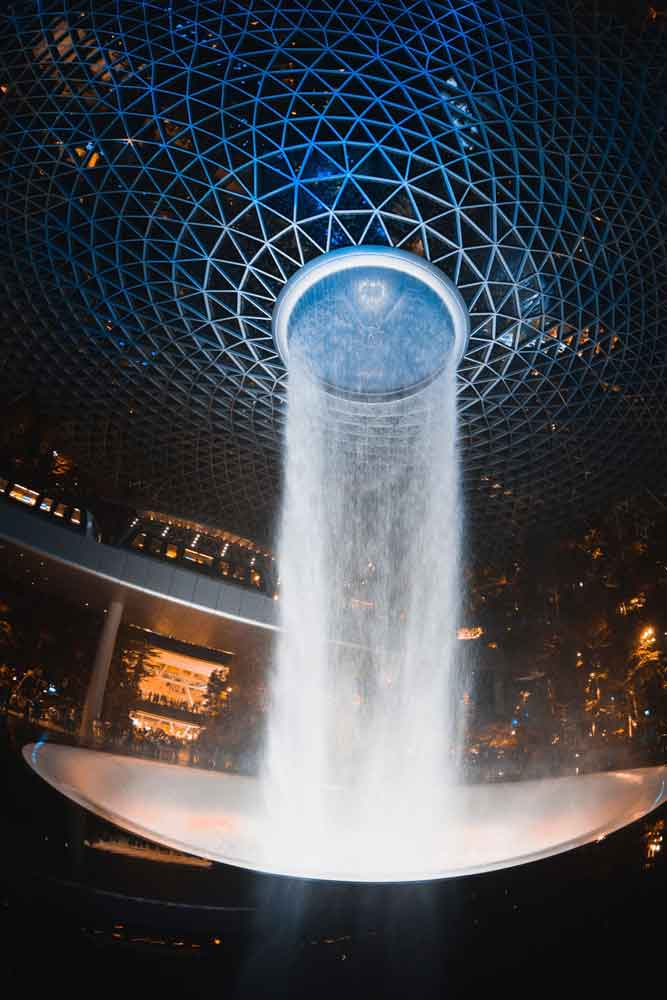 Rain Vortex, The Jewel, Changi airport, Singapore,