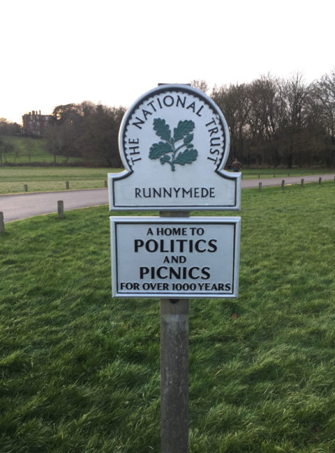 National trust sign, Runnymede