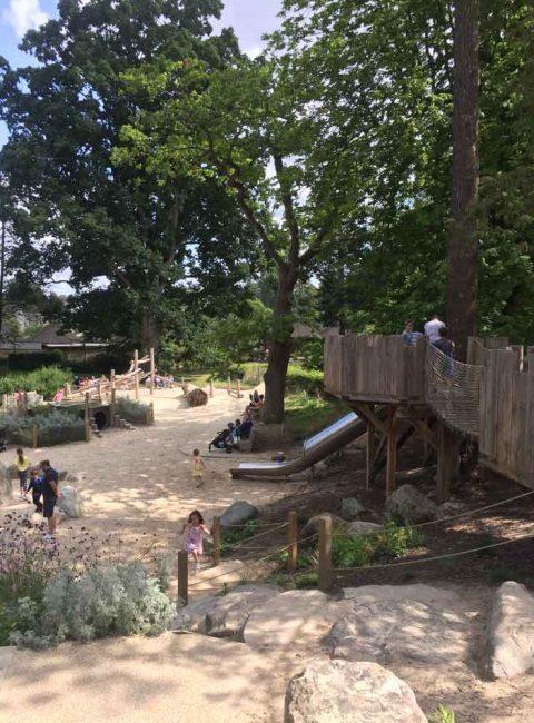 Hever Castle playground Hever, Kent, England