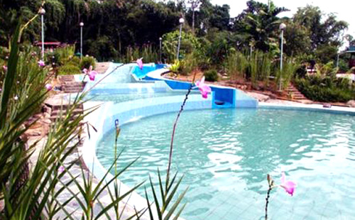Image of pools at poring hot springs, Borneo