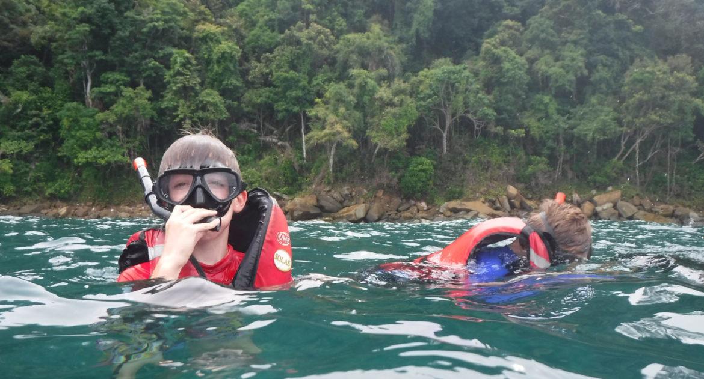 snorkeling at the Tunku Abdul Rahman National Park