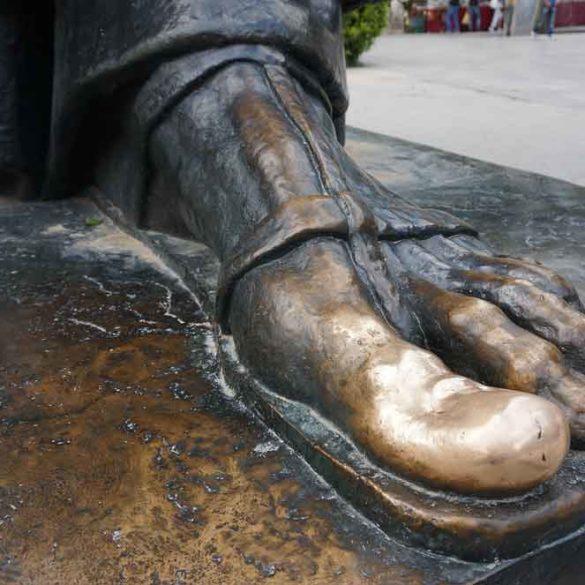 Statue of Gregory's Lucky Toe, Split, Croatia
