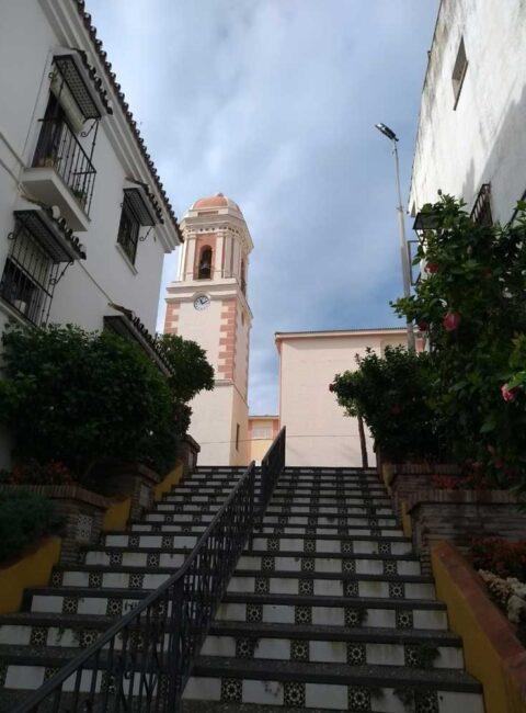 Steps to Estepona Clock Tower, Spain