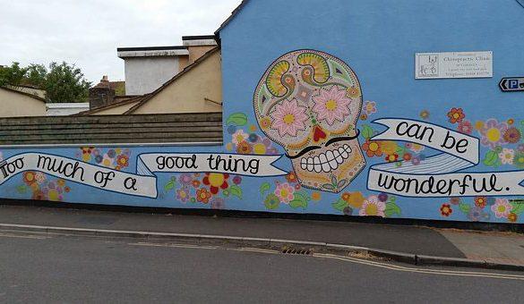 Street art Glastonbury town