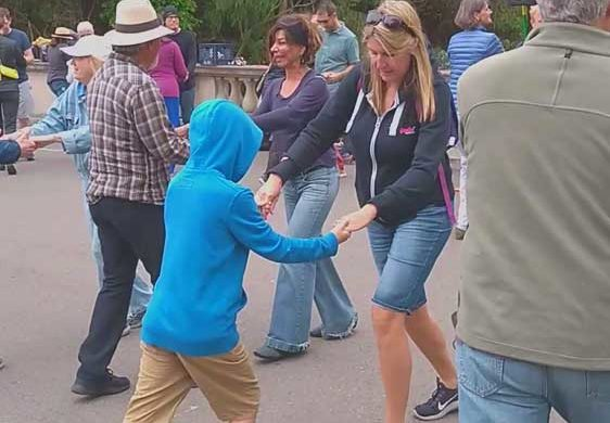 Swing dance in the Golden Gate Park, San Francisco, California