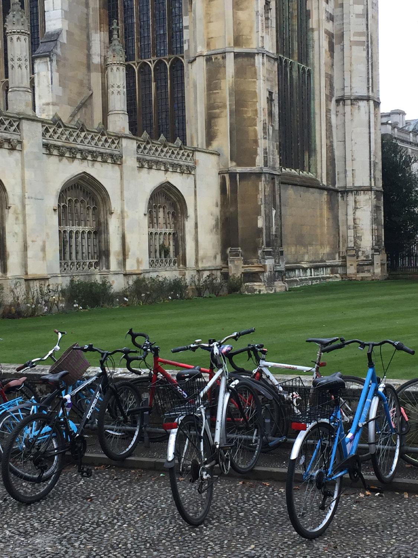 Bikes at Kings College, Cambridge, UK