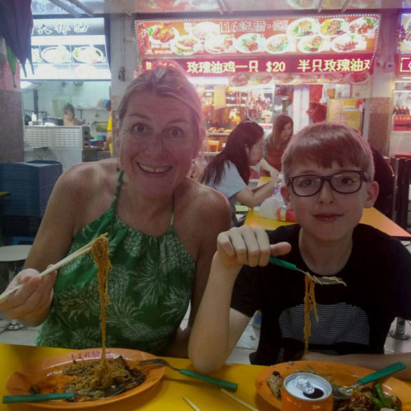 Eating Duck at China Town Hawkers' market, Singapore