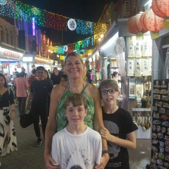 Walking through China Town, Singapore