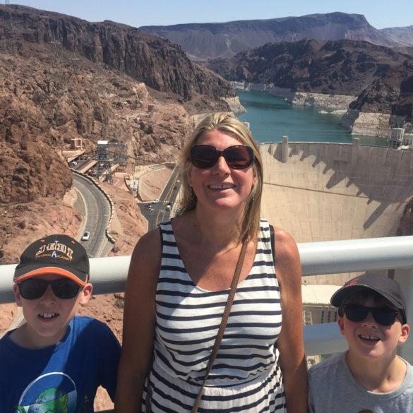 Family at Hoover Dam, Nevada, USA