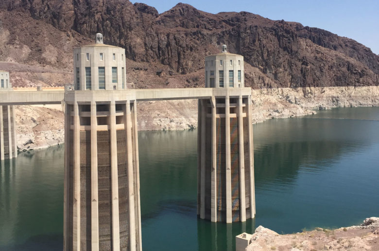 Hoover Dam Intake Towers, Nevada, USA