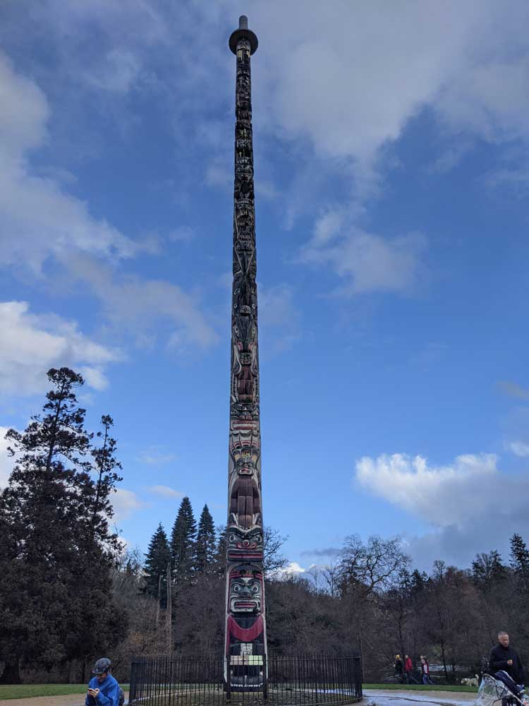 The Totem Pole, Virginia Water Lake, Egham, Surrey, UK