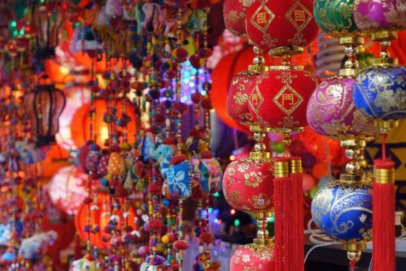 Lanterns at China Town, Singapore