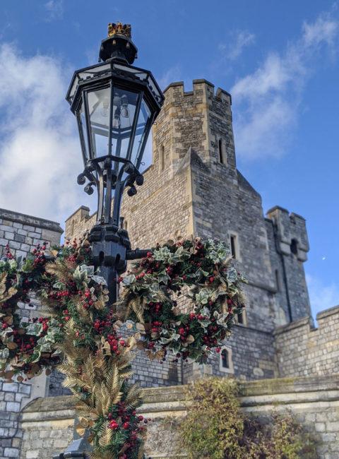 Windsor Castle at Christmas, Windsor, England