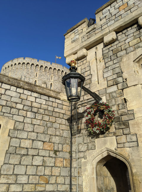 Christmas decorations at Windsor Castle at Christmas, Windsor